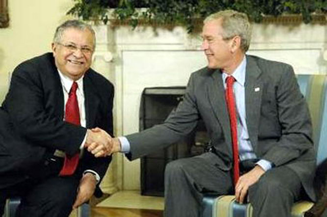 president george bush orders attack on iraq